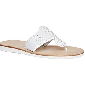 Jack Rogers White Boating Jacks Sandals- 7